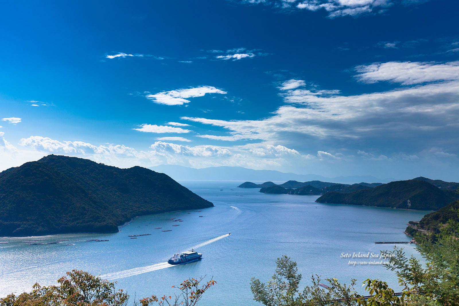 みなとの見える丘公園から瀬戸内海の絶景写真