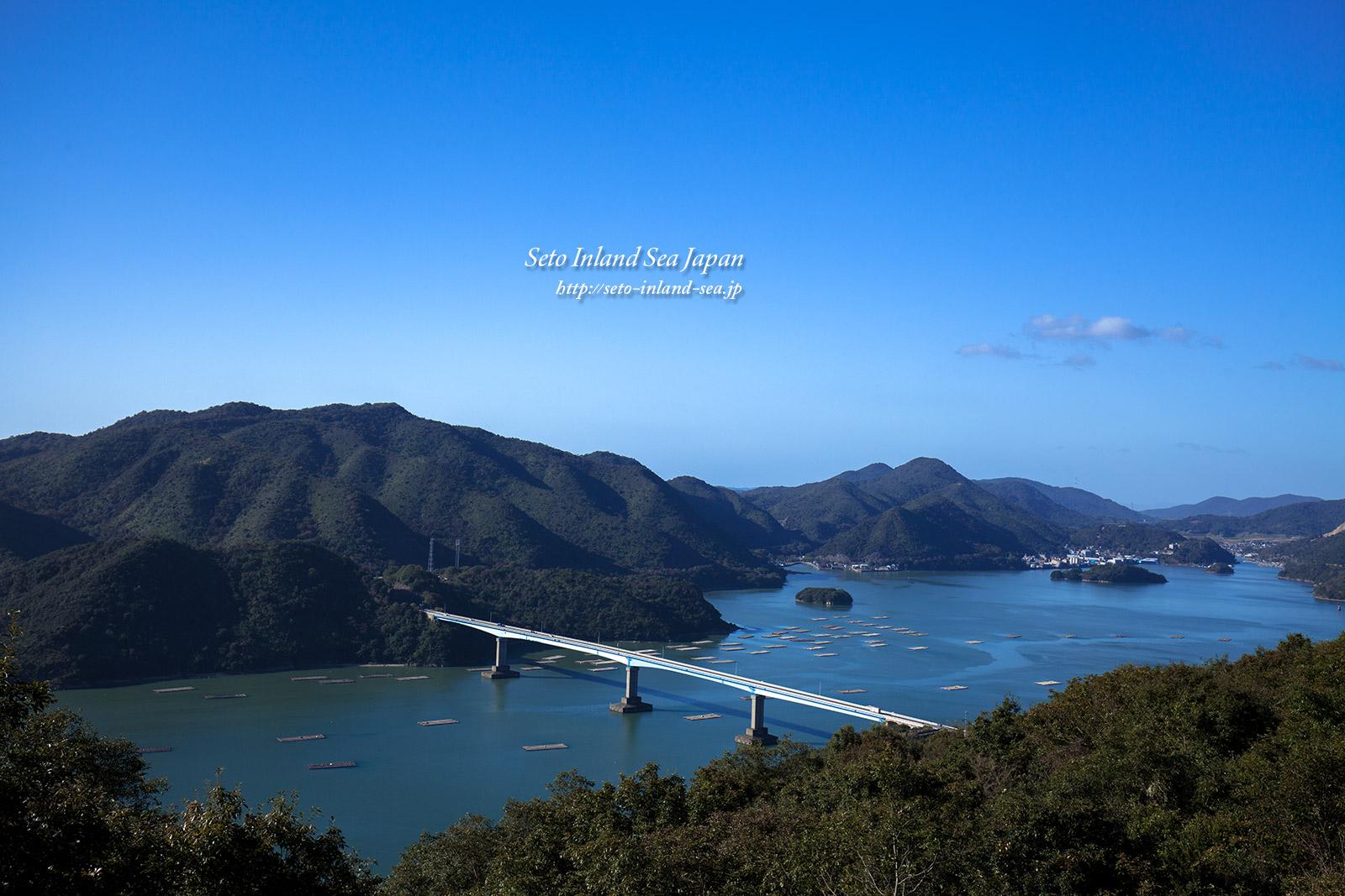 青く美しい片上大橋